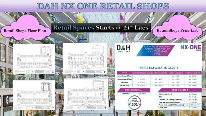 Retail Shops Price List
