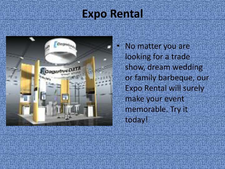Expo Rental