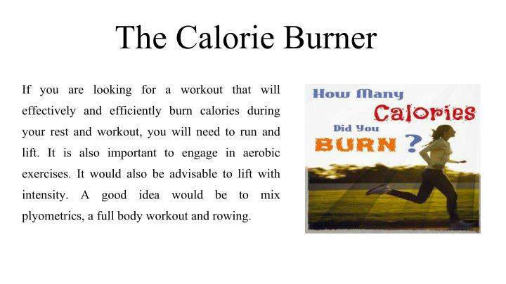 The Calorie Burner