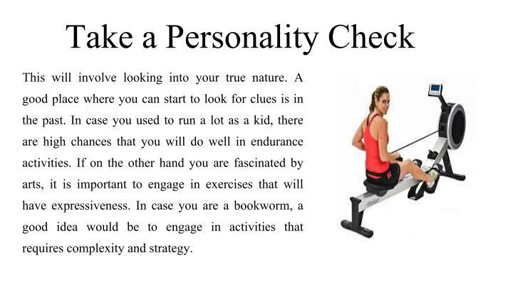 Take a Personality Check