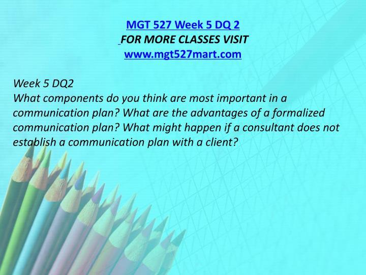 MGT 527 Week 5 DQ 2
