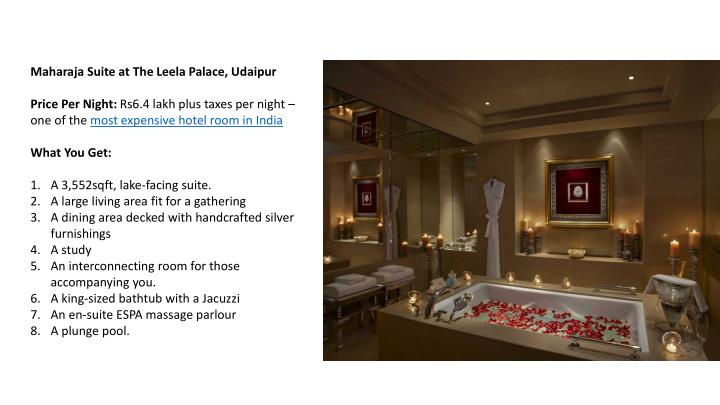 Maharaja Suite at The