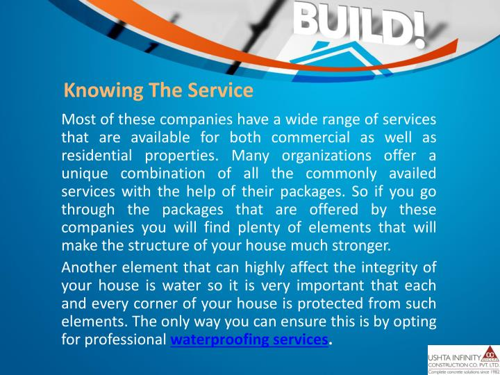 Knowing The Service