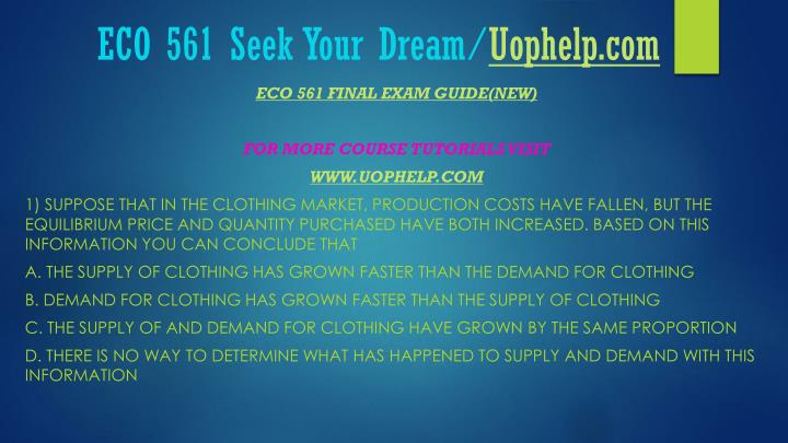 Eco 561 seek your dream uophelp com2