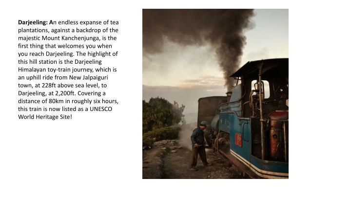 Darjeeling: A