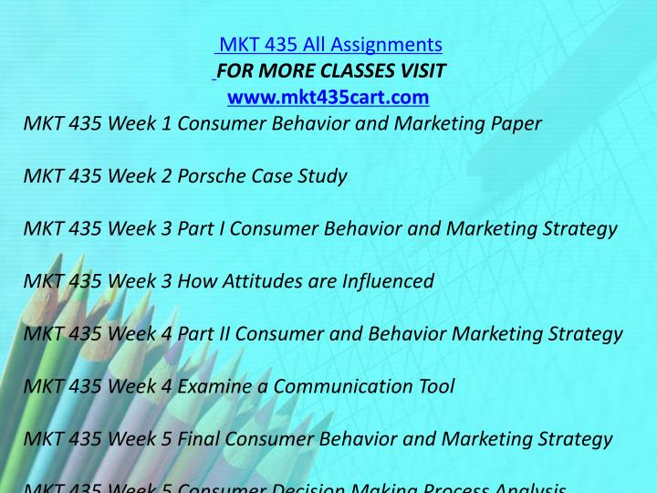MKT 435 All Assignments