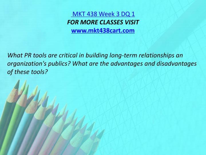 MKT 438 Week 3 DQ 1