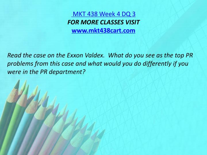 MKT 438 Week 4 DQ 3