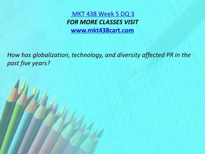 MKT 438 Week 5 DQ 3