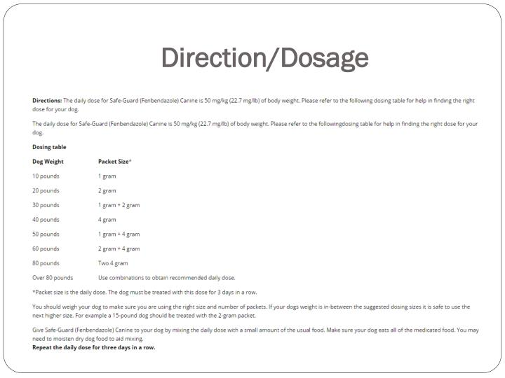 Direction/Dosage