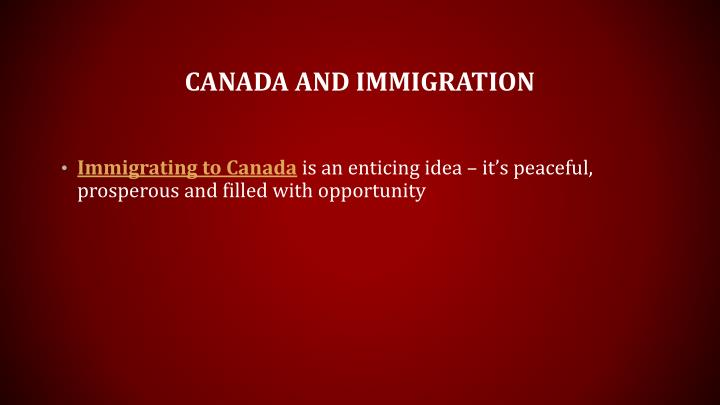 Canada and immigration