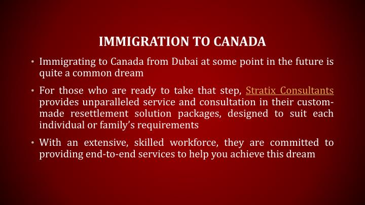 Immigration to