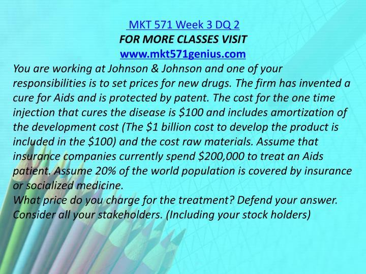 MKT 571 Week 3 DQ 2