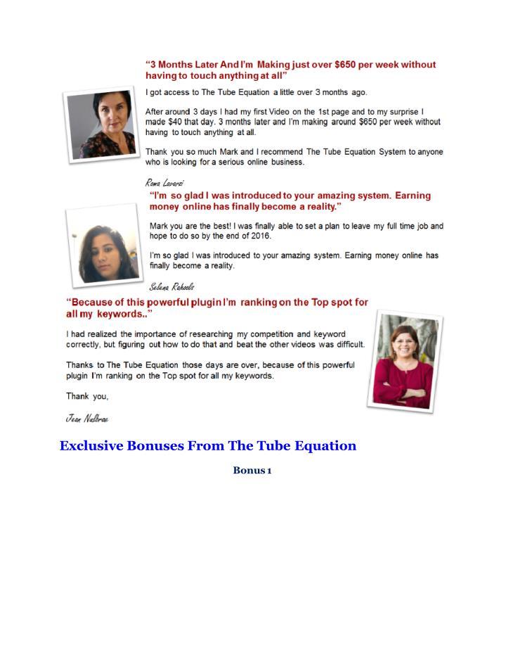 Exclusive Bonuses