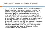 telcos must create ecosystem platforms