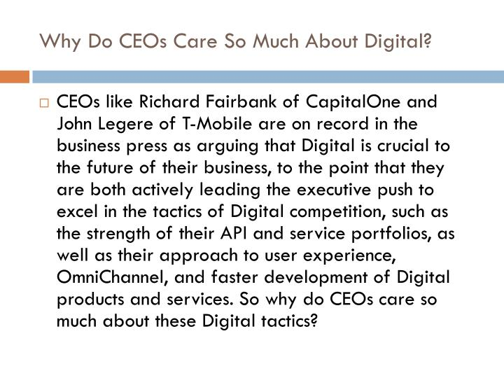 Why Do CEOs Care So Much About Digital?