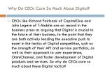 why do ceos care so much about digital