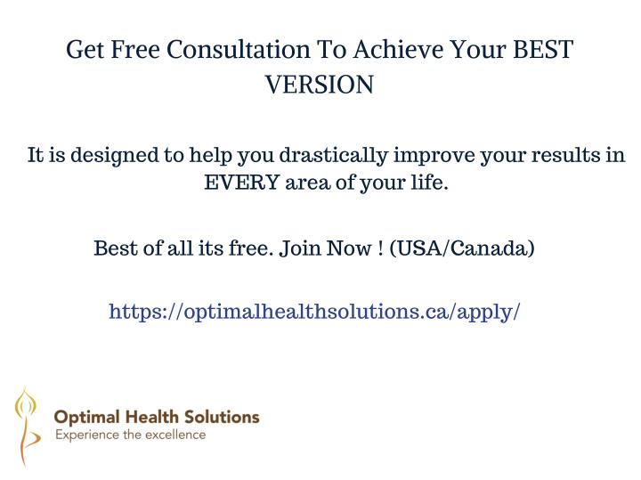 Get Free Consultation To Achieve Your BEST