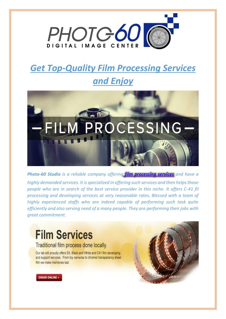 Get Top-Quality Film Processing Services