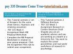 psy 335 dreams come true tutorialrank com4