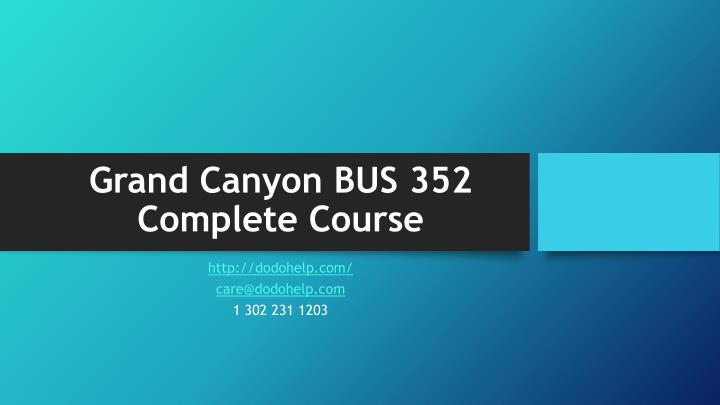 grand canyon bus 352 complete course