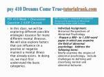 psy 410 dreams come true tutorialrank com2