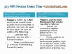 psy 460 dreams come true tutorialrank com8
