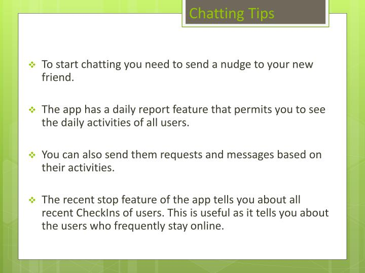Chatting tips
