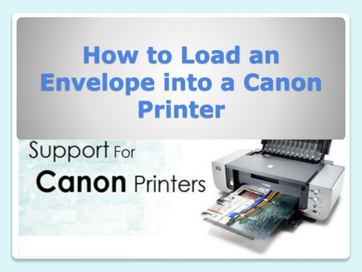 How to load an envelope into a canon printer