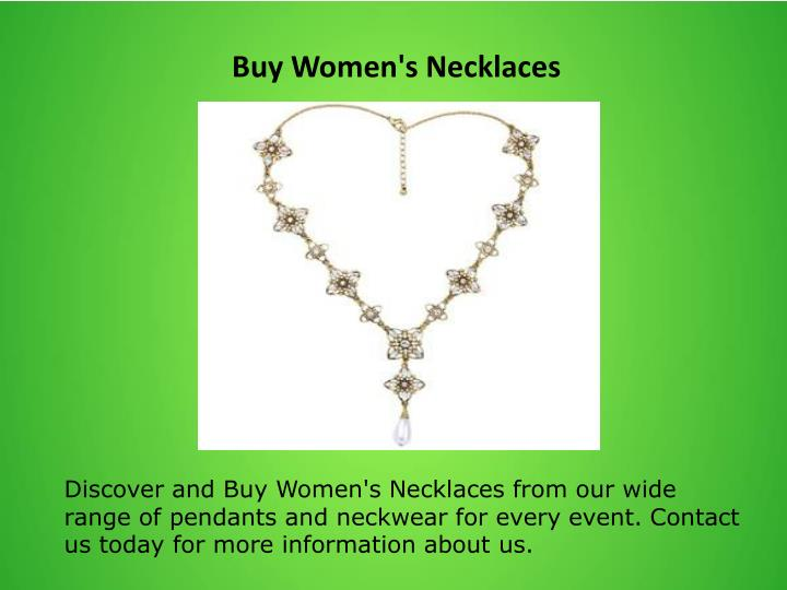 Buy Women's Necklaces