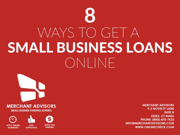 8 ways to get a small business loan online