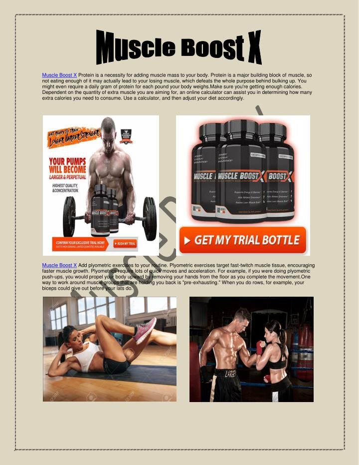 Muscle Boost X Protein is a necessity for adding muscle mass to your body. Protein is a major buildi...