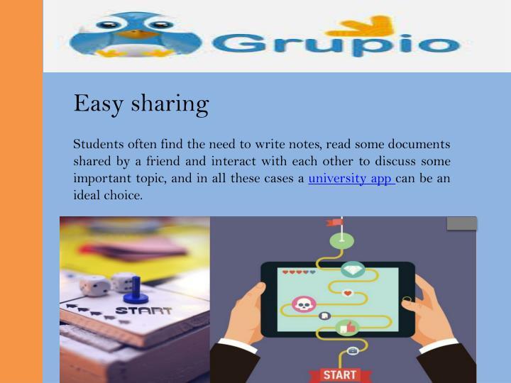 Easy sharing
