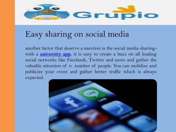 Easy sharing on social media