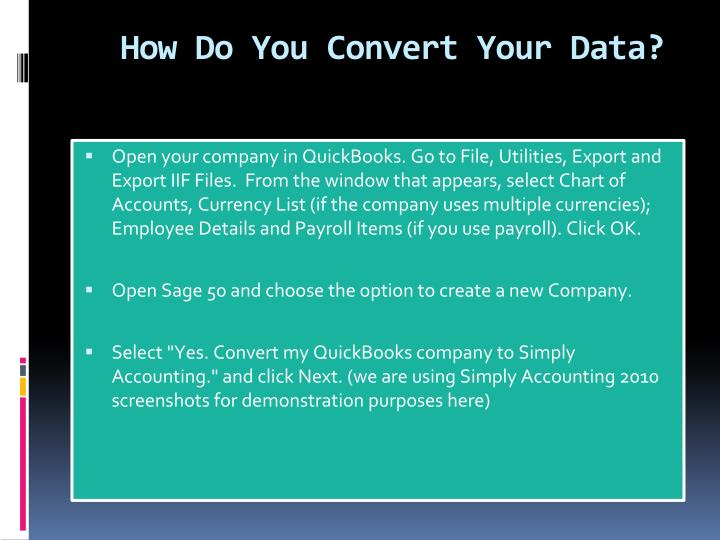 How Do You Convert Your Data?
