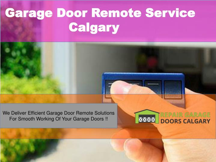 Garage Door Remote Service