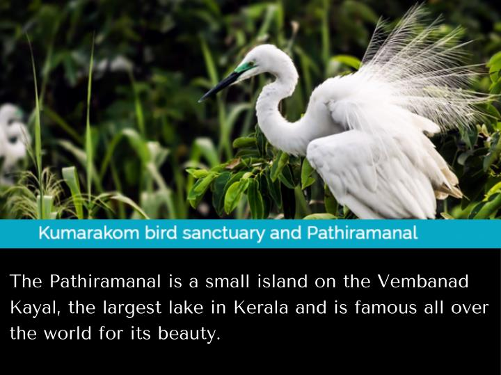 The Pathiramanal is a small island on the Vembanad