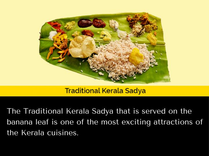 The Traditional Kerala Sadya that is served on the