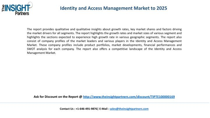 Identity and Access Management Market to 2025