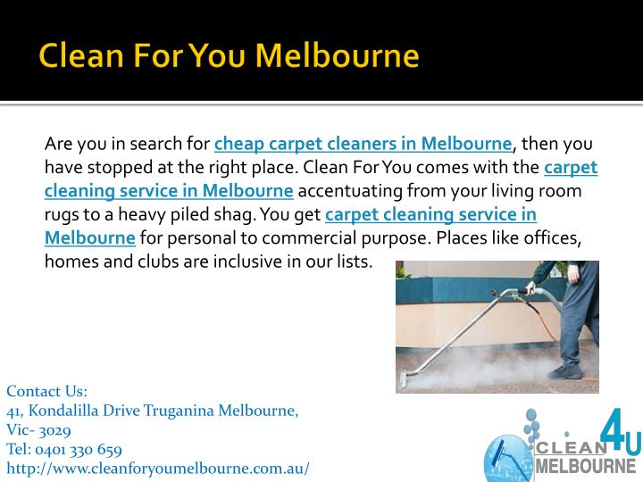 Clean for you melbourne1