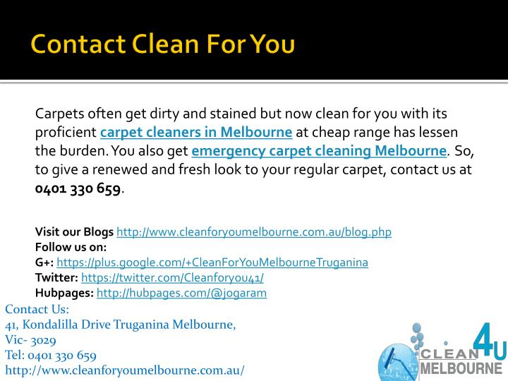 Contact Clean For You