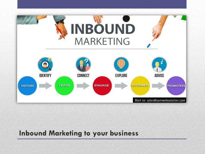 Inbound marketing to your business