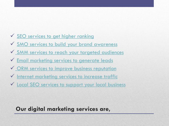SEO services to get higher ranking