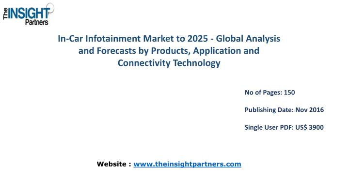 In-Car Infotainment Market to 2025 - Global Analysis and Forecasts by Products, Application and Conn...