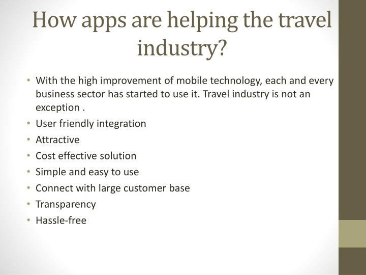 How apps are helping the travel industry?