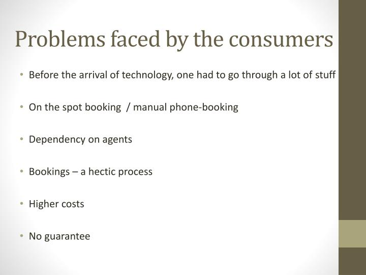 Problems faced by the consumers