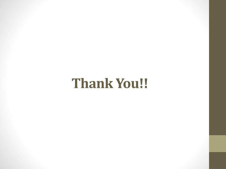 Thank You!!