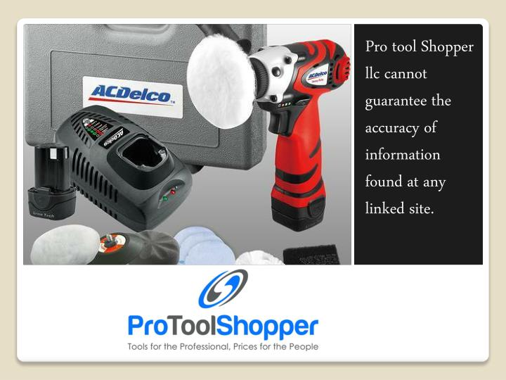 Pro tool Shopper