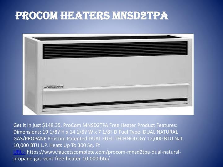 PROCOM HEATERS MNSD2TPA