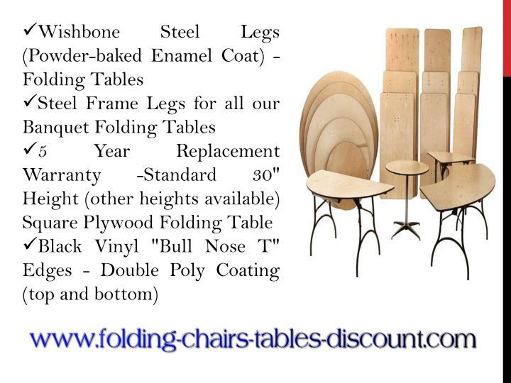 Wishbone Steel Legs (Powder-baked Enamel Coat) - Folding Tables